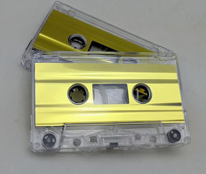 Clear with Gold Foil Tab Out 10 Min (05 Min. per side) Type I Normal Bias Master Audio Cassette Sonic - 25 Pack