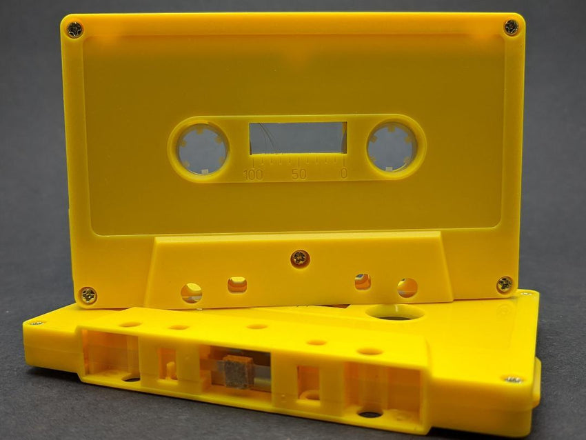 Goldenrod Tab Out 10 Minutes (05 Min. per side) Type I Normal Bias Master Audio Cassette 5 Screws - 25 Pack