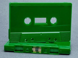 Green Solid Tab Out Type I Normal Bias Master Audio Cassette Sonic - 25 Pack