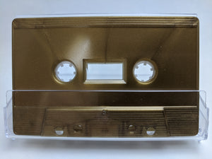 Metallic Gold Tab Out Type I Normal Bias Master Audio Cassette Sonic - 25 Pack