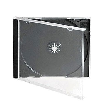 10.4mm CD Jewel Case with Black Tray, Holds 1 Assembled