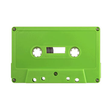 Lime Green Tab Out Type I Normal Bias Master Audio Cassette