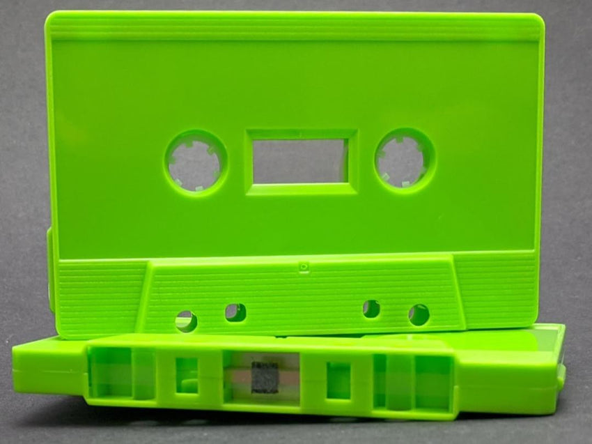 Lime Green Tab Out Type I Normal Bias Master Audio Cassette Sonic - 25 Pack