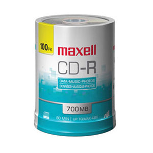 Maxell 648200 Branded 48X CD-R 80min, 100 Pk. Spindle