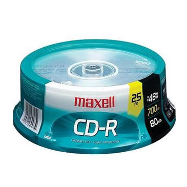 Maxell 648445 Branded CD-R 80Min, 25 Pk. Spindle