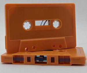 Orange Tab Out 10 Minutes (05 Min. per side) Type I Normal Bias Master Audio Cassette Sonic - 25 Pack