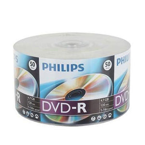 Philips DVD-R 16X 4.7GB Branded Logo, Retail Pack, Shrink Wrap