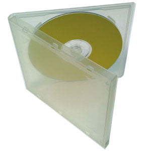 10.4mm CD Poly Case Holds 1 CD with No Overlay, 50 Pack