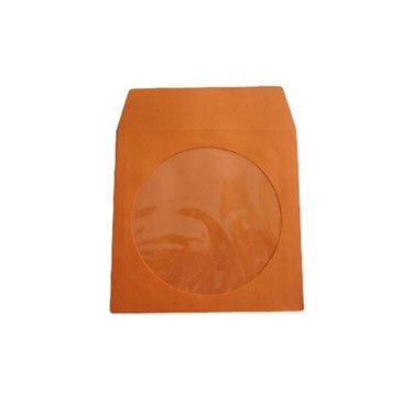 Orange CD Paper Sleeve with Window
