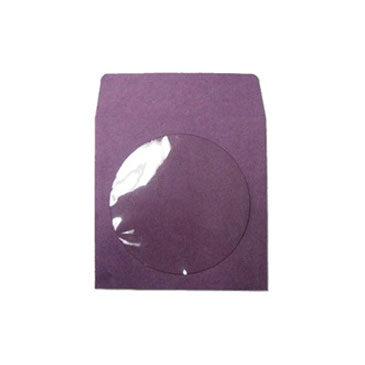 Purple CD Paper Sleeve with Window