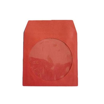 Red CD Paper Sleeve with Window