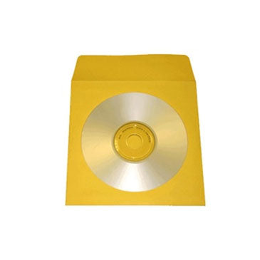 Yellow CD Paper Sleeve with Window