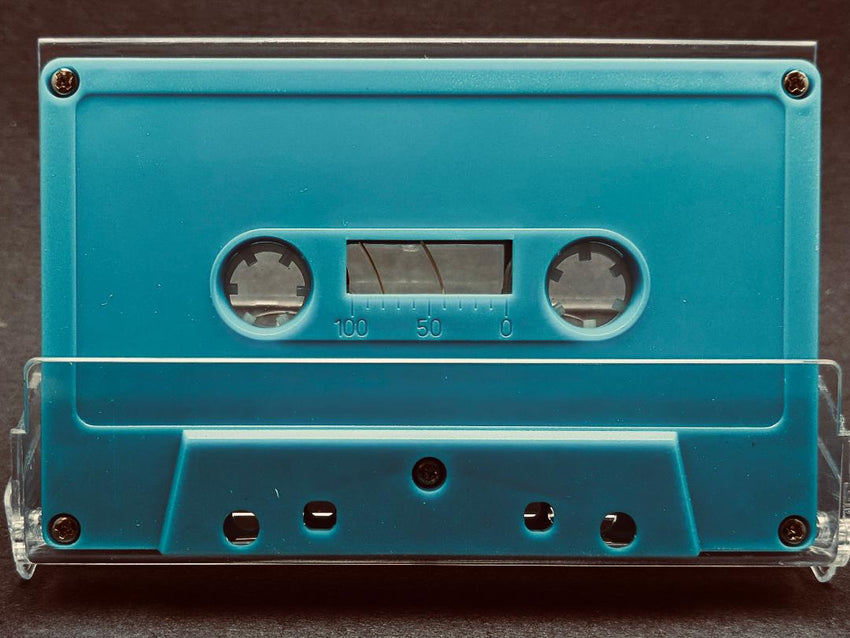 Pastel Blue Tab Out 10 Minutes (05 Min. per side) Type I Normal Bias Master Audio Cassette 5 Screws - 25 Pack