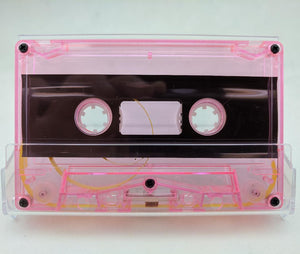Pink Tint Tab Out 06 Minutes (3.0 Min. per side) Type I Normal Bias Master Audio Cassette 5 Screws - 25 Pack