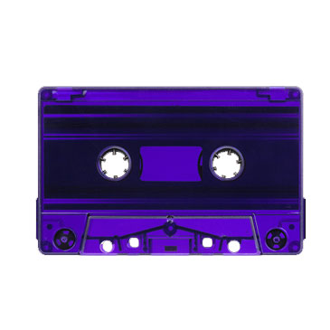 Purple Tint Tab Out Type I Normal Bias Master Audio Cassette Sonic