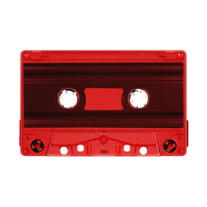Red Tint Tab Out Type I Normal Bias Master Audio Cassette Sonic - 100 Pack