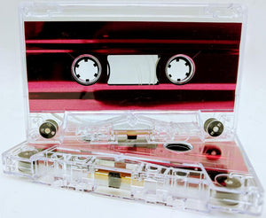 Clear with Red Foil Tab Out Type I Normal Bias Master Audio Cassette Sonic - 25 Pack