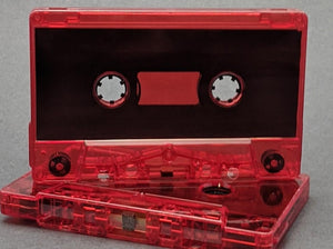 Red Tint Tab Out Type I Normal Bias Master Audio Cassette Sonic - 25 Pack