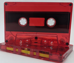 Red Tint Tab Out 10 Minutes (05 Min. per side) Type I Normal Bias Master Audio Cassette 5 Screws - 25 Pack