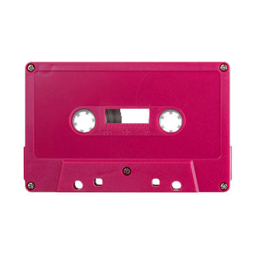 Rhodamine Red Tab Out Type I Normal Bias Master Audio Cassette