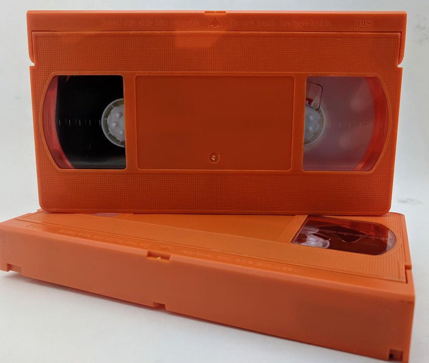 120 Minutes High Grade VHS Tape, Orange