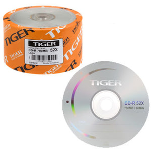 Tiger CDR / CD-R 52X 700MB Branded