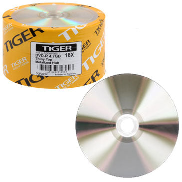 Tiger DVD-R 16X 4.7GB Shiny Top, Metalized Hub