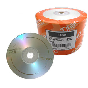 Titan CDR / CD-R 52X 700MB 80Min Logo Branded