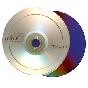 Titan DVD-R 16X 4.7GB Logo Branded