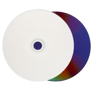 graphic about Inkjet Printable Dvd referred to as Titan DVD-R 16X Drinking water-Resistant Shiny White Inkjet Printable Metalized Hub