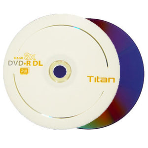Titan DVD+R 8X 8.5GB Dual Layer Logo Branded