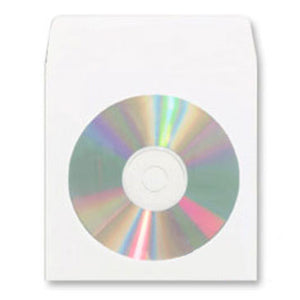 CD White Tyvek Sleeve with Window