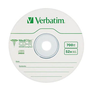 Verbatim 94736 MediDisc CDR Branded/ Thermal Printable, 10 Pack