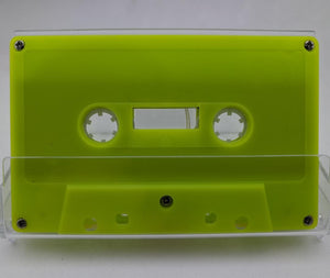 Yellow Green Tab Out 10 Minutes (05 Min. per side) Type I Normal Bias Master Audio Cassette 5 Screws - 25 Pack