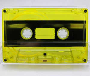 Yellow Tint Tab Out 37 Minutes (18.5 Min. per side) Type I Normal Bias Master Audio Cassette 5 Screws - 25 Pack