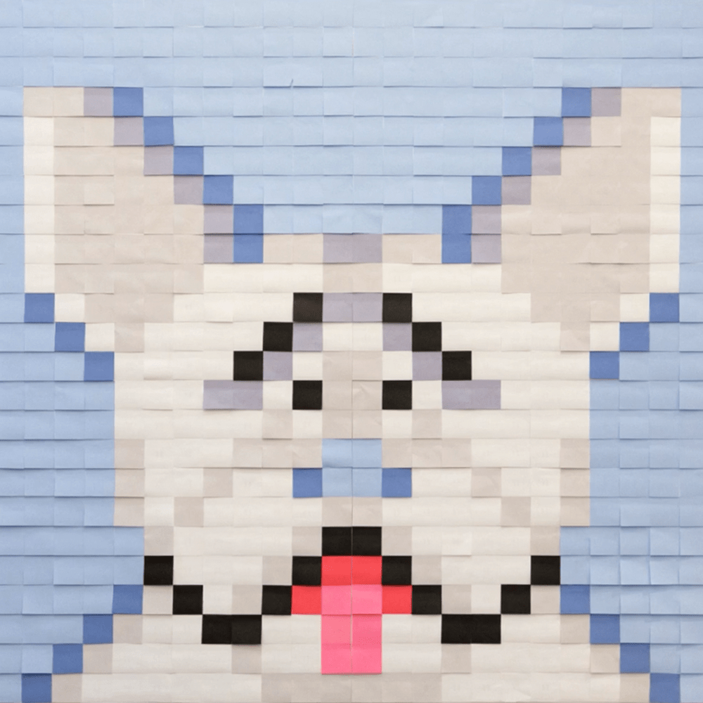 Mural Kit 5 - French Bulldog; Size: 6 ft x 6 ft