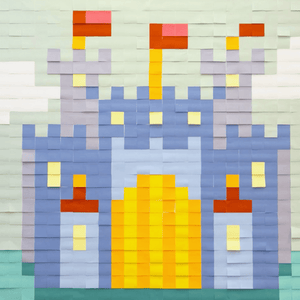 Mural Kit 3 - Castle; Size: 6 ft x 6 ft