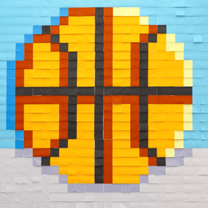 Mural Kit 1 - Basketball; Size: 6 ft x 6 ft