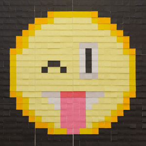 Mural Kit 13 - Silly Face Emoji; Size: 6 ft x 6 ft