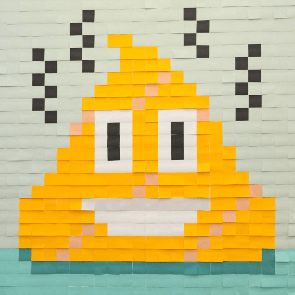 Mural Kit 12 - Poop Emoji; Size: 6 ft x 6 ft