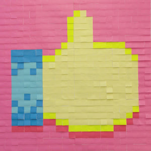 Mural Kit 14 - Thumbs Up Emoji; Size: 6 ft x 6 ft