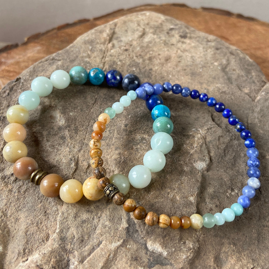 Ocean View Bracelet 8mm and 4mm