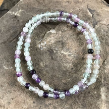 Fluorite Purple 4mm Bead Bracelet