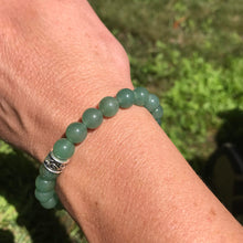 Green Aventurine Bracelet on wrist