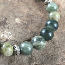 Green Line Jasper Bracelet close up