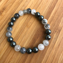 Hematite and Tourmaline Quartz Bracelet