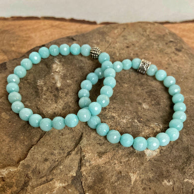 Amazonite Faceted Bracelet