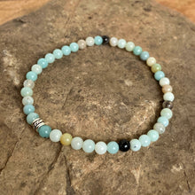 Black Gold Amazonite Mini Bead Bracelet