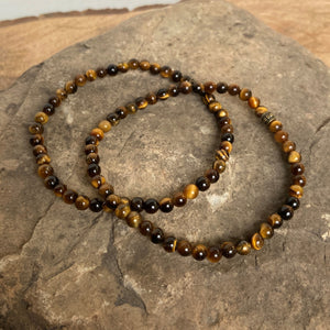 Tiger Eye Mini Bead Bracelet