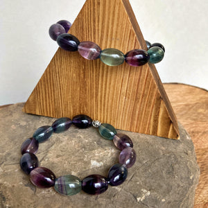 Fluorite Bracelet - Barrel Shape